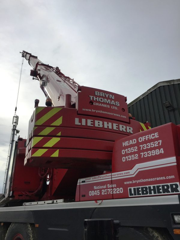 55t Liebherr at Bryn Thomas Cranes