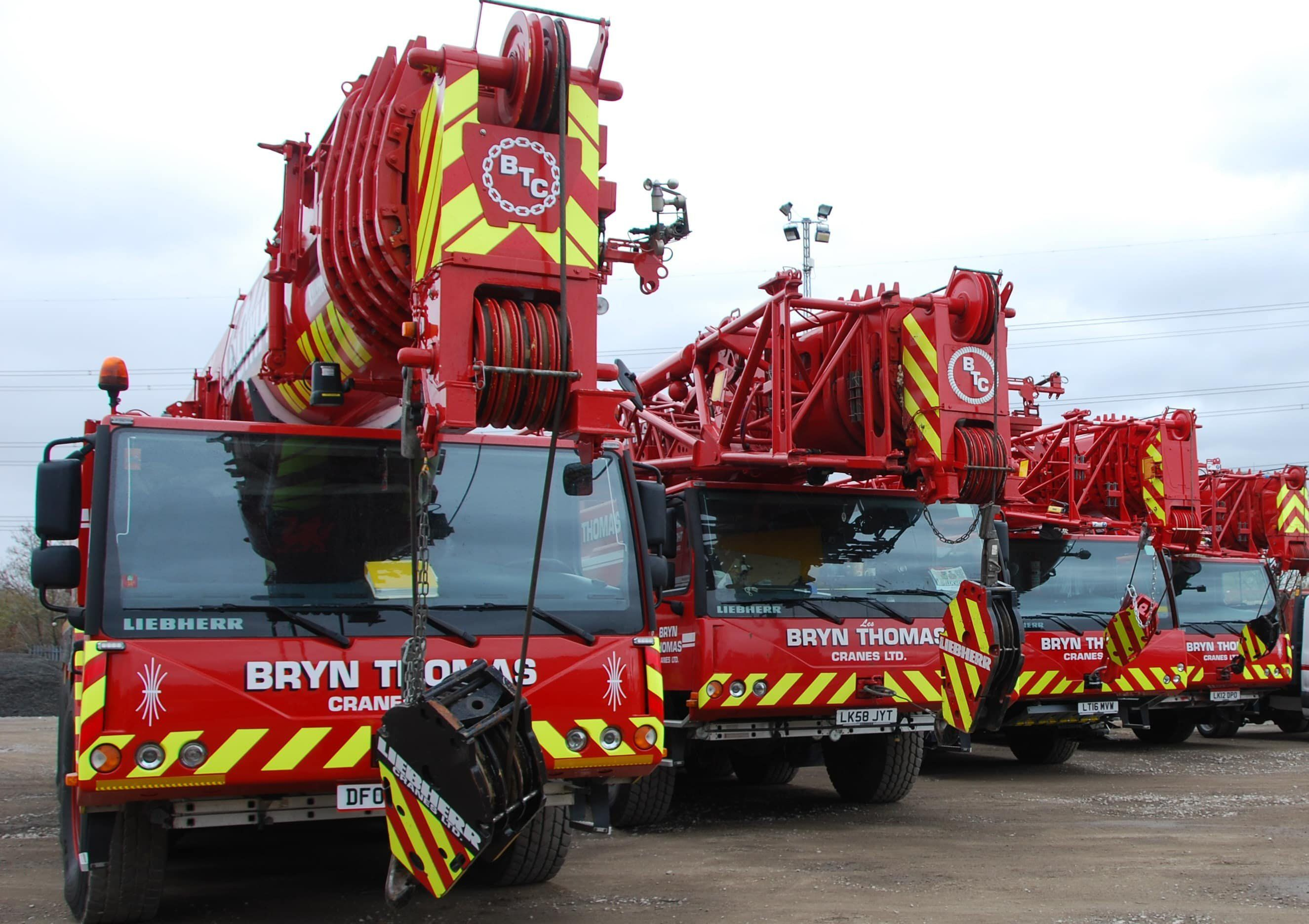 Fleet at Bryn Thomas Cranes