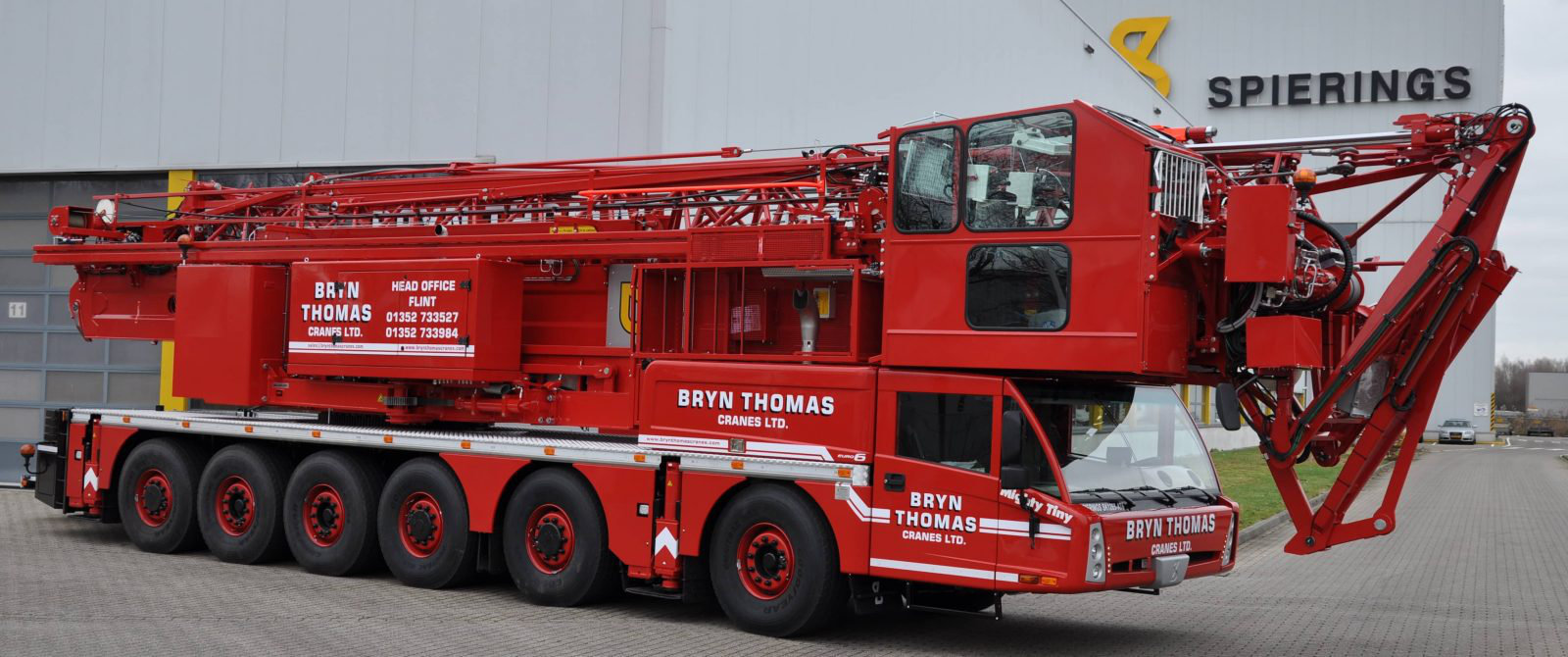 Spierings Mobile Crane at Bryn Thomas Cranes Ltd