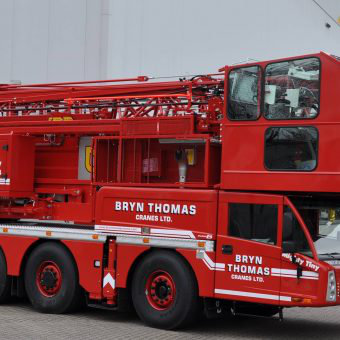 Spierings Mobile Crane at Bryn Thomas Cranes Ltd