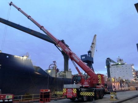 90t Liebherr Fleet at Bryn Thomas Cranes Project