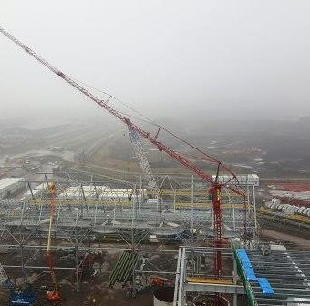 Mobile Tower Crane at Crane Hire Project
