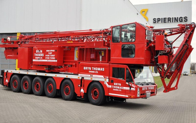 60 metres Spierings sk1265 at6 mobile tower crane