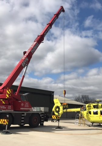 Bryn Thomas Cranes 40t Liebherr Fleet in action